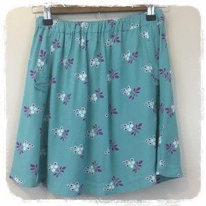 UO Cooperative Aqua/Purple Miniskirt sz. S